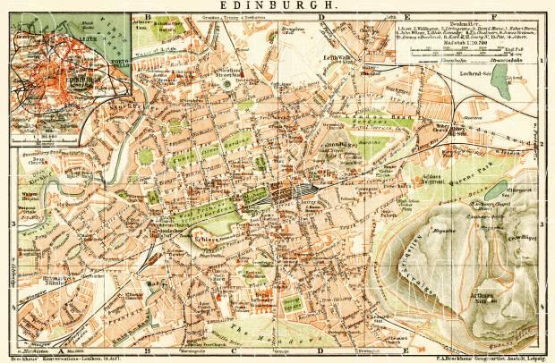 old map of edinburgh | Scotmid Funerals